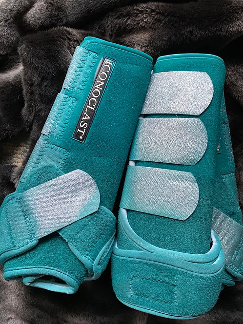 Dark Teal with silver glitter straps xlarge full set