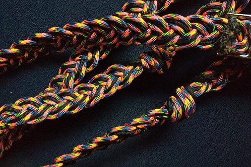 Reins Black and bright rainbow