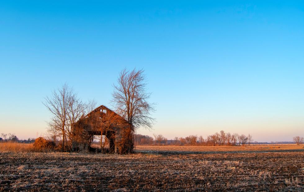 Dilapidated Farm Shack. Milan,  Michigan. 16 February 2020, 5:53 P.M.