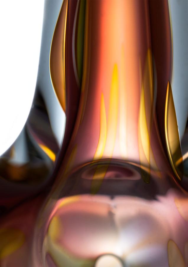 Small segment of locally made glass pipe