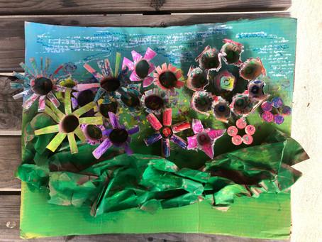 Earth Day Art Prompt: Reclaimed Flower Garden