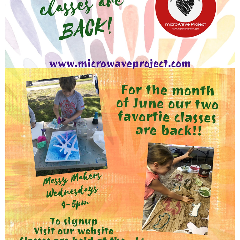Messy Makers and Art Adventures for Kids Returns