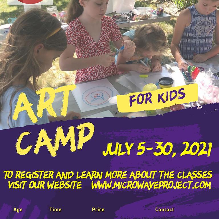 Summer Art Camp for Kids July 2021