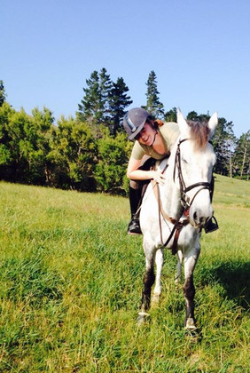 Enjoying the paddock riding