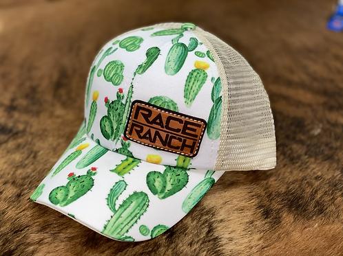 RRW - Race Ranch Cactus / Khaki Ponytail Patch Hat