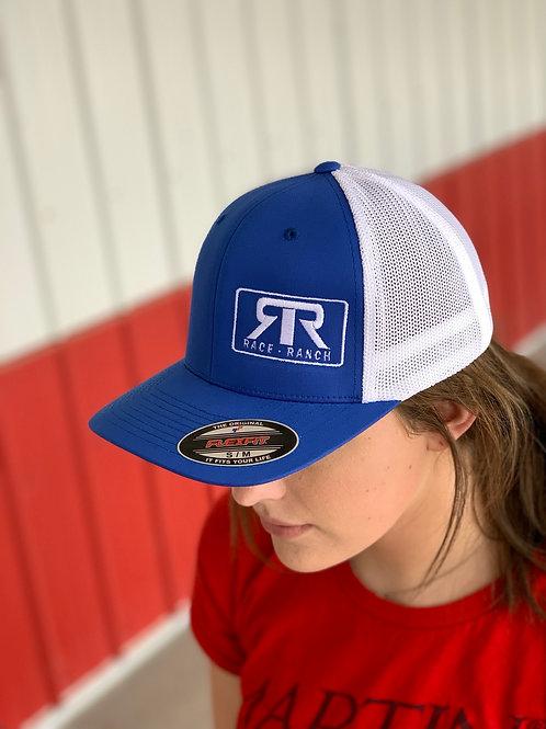RRW - Race Ranch Blue/White Flexfit
