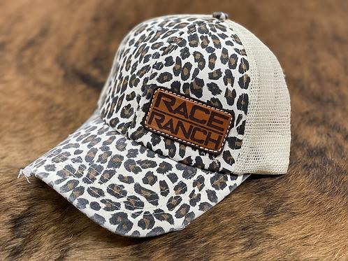 RRW - Race Ranch Leopard / Khaki Ponytail Patch Hat
