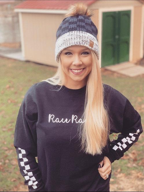 RRW - Race Ranch Checkered Sleeve (Sweat Shirt)