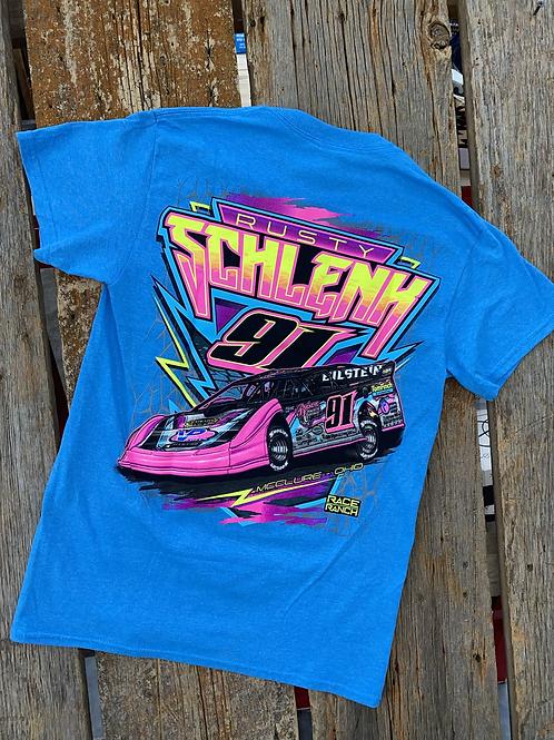 Rusty Schlenk Racing: Flo 91 Summer Time Edition Tee