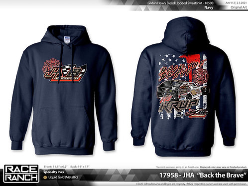 JHA Motorsports: Will Krup - Back The Brave Hoodie