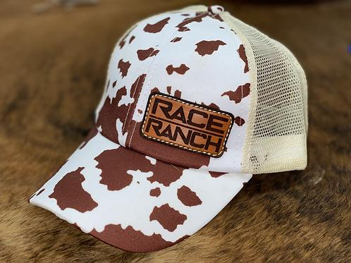 RRW - Race Ranch Brown / Khaki Cow Ponytail Patch Hat