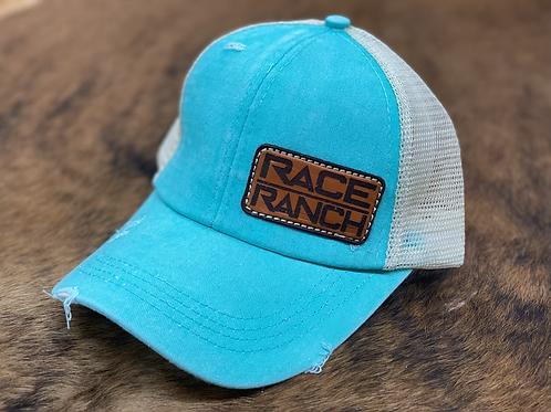 RRW - Race Ranch Turquoise / Khaki Ponytail Patch Hat