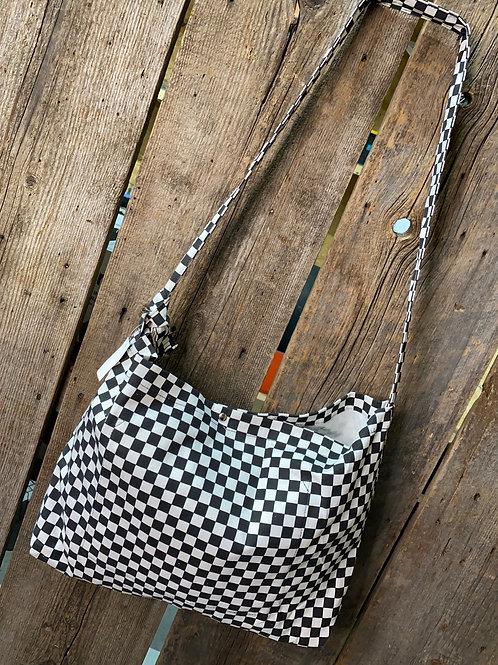 RRW - Race Checkered Print Hobo Bag