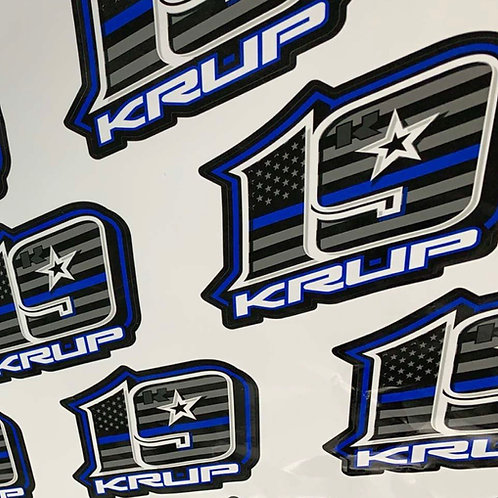 "JHA Motorsports - Window Decal - Krup k19 ""Back the Blue"""