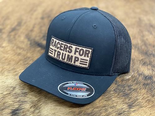 RRW - Race Ranch Racers For Trump Black / Black Flex Patch Hat
