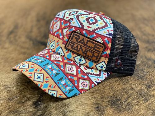 RRW - Race Ranch Aztec / Black Ponytail Patch Hat