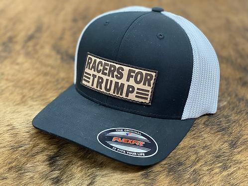 RRW - Race Ranch Racers For Trump Black / White Flex Patch Hat