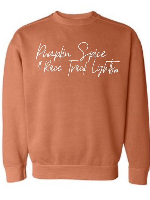 RRW - Pumpkin spice Racetrack lights (crew neck)