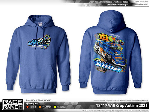 JHA Motorsports: Will Krup - Autism Awareness Hoodie