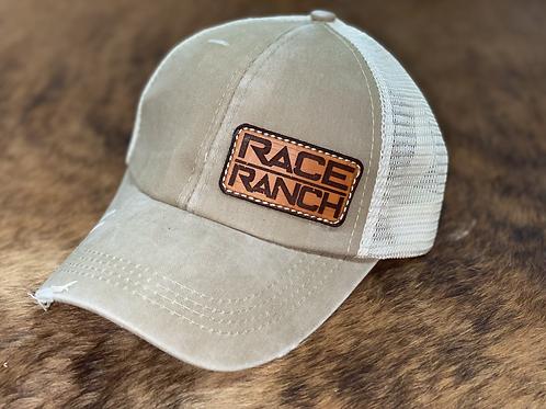 RRW - Race Ranch Olive Green / Khaki Ponytail Patch Hat