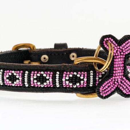 Hundhalsband Skinny Rafiki Pink