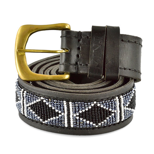 Läderbälte Rafiki black   Zinj design