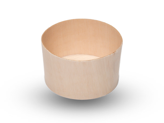 260ML ROUND FALCATAINER WOODEN FOOD POT (1000PCS A CARTON)