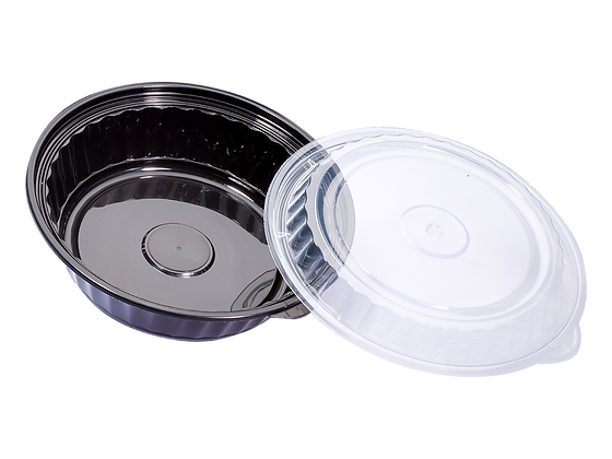 720ML ROUND WAVEBOX FOOD CONTAINER WITH CLEAR LID (150SET/CARTON)