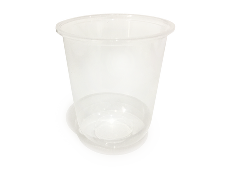 pp clear cold hot cup and lid