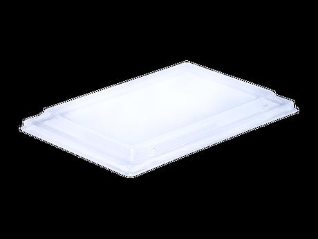 rectangular clear lid