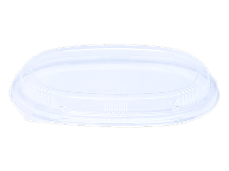 oval clear lid