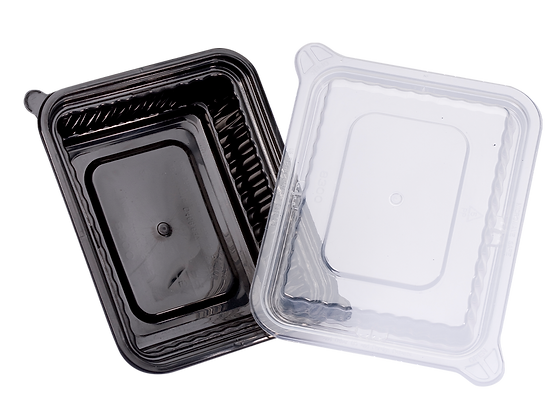 360ML RECTANGULAR WAVEBOX FOOD CONTAINER WITH CLEAR LID (150SET/CARTON)