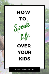 How To Speak Life Over Your Kids / Choosing to cover your kids with words that overflow with truth, hope, joy, and purpose will change them. We can intentionally choose to use our words to plant seeds in our children's hearts and point them towards their identity in Christ.  perspective - power of words - Bible - Jesus - Gospel - Truth - Affirmations - Faith - Habits - Intentional - Purposeful - Spiritual growth - speak truth - speak life - parenting - motherhood | www.pamelarenee.com