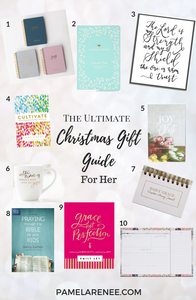 The Ultimate Christmas Gift Guide For Christians // Purposeful and impactful gift ideas that will equip and inspire those in your life to pursue greater intimacy and growth with Jesus. For Her // Gospel - reading - booklist - books - sister - daughter - friend - Christmas presents - intentional holidays - purposeful - prayer - personal growth - mother - spiritual growth -  wife - faith | www.pamelarenee.com