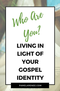 Who Are You? Living In Light of Your Gospel Identity / Have you ever considered how your identity was shaped? Do you know the line between what you do and who you are? Everything we place our identity in outside of the work of Christ will pass away. Faith - Jesus - Bible - Intentional - Grace - Goals - Simplicity - spiritual growth - spiritual disciplines - parenting - motherhood | www.pamelarenee.com