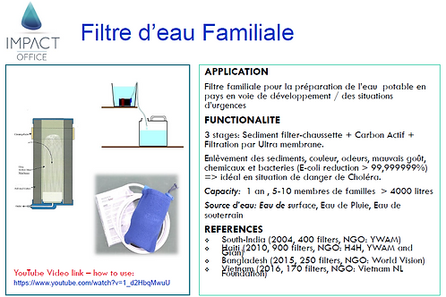 Family Drinking Water Filter