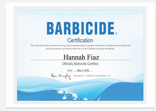 BARBICIDE SANITATION & DISINFECTION PRACTICES