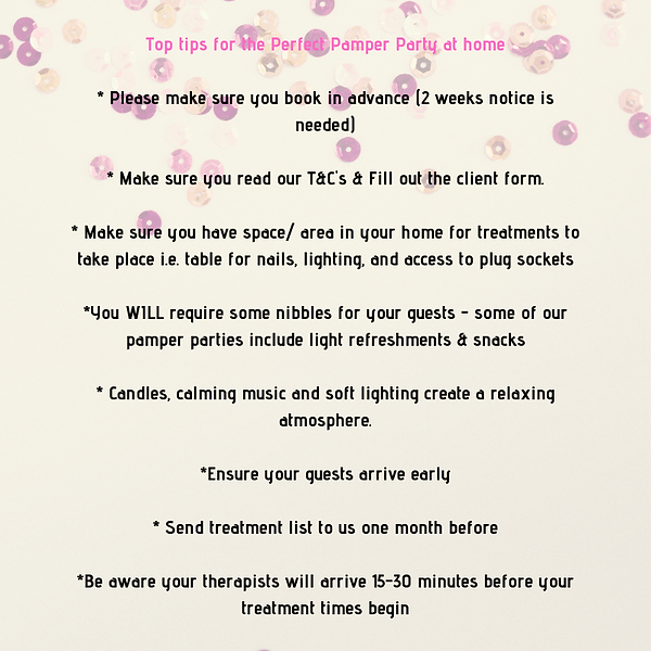 Top tips for the Perfect Pamper Party at