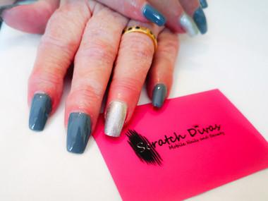 Grey Hybrid Gel Nails 2020