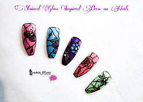 Stain Glass effect Press on Nails