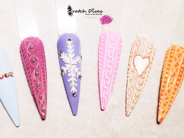 Knitted Inspired Nail Art 2020