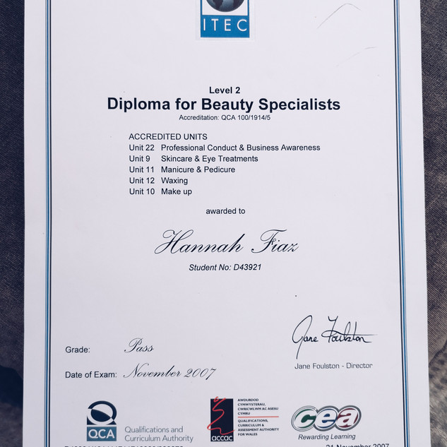 ITEC Beauty Diploma