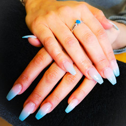 Dip Powder Baby Blue Ombre