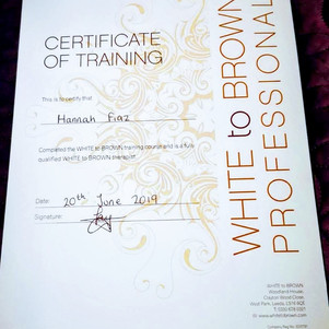 White To Brown Certficate