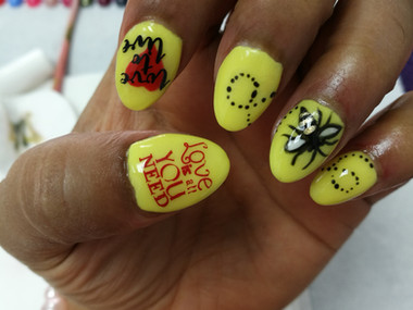 Manchester One Love inspired nails