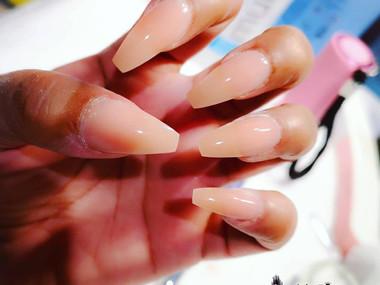 Nude Hybrid Gel Nails 2020