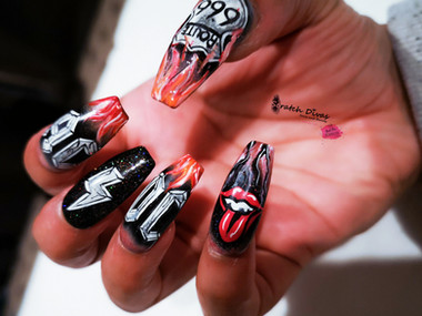 ACDC Press On Nails