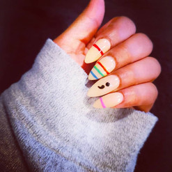 Mental Health Awareness Nails