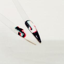 Glitch 'Tik Tok' Nail Art