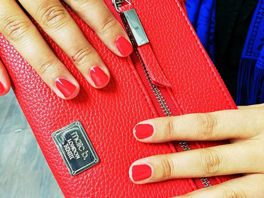 Red Gelish Gel Polish
